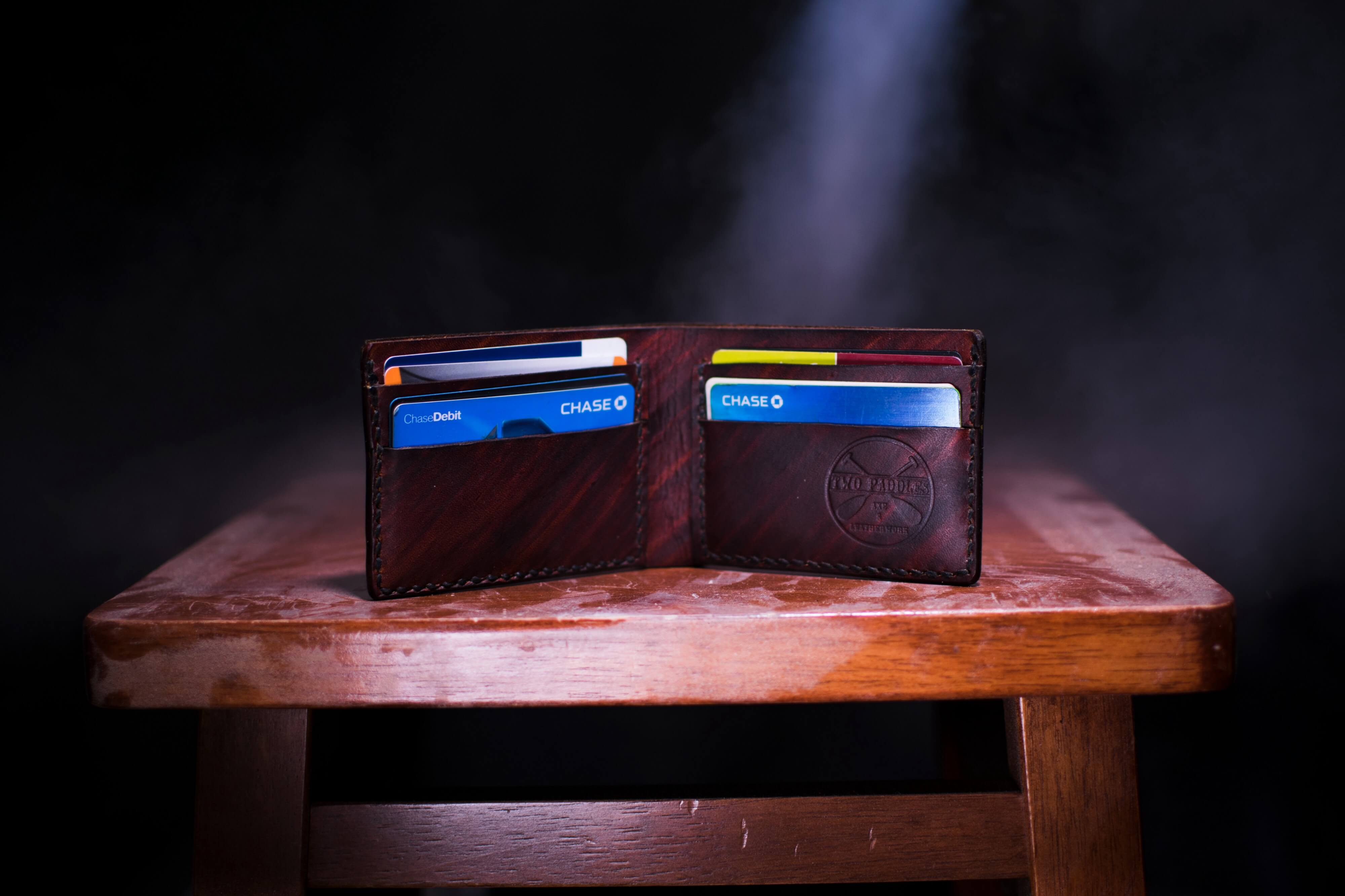 photo of a wallet and credit cards